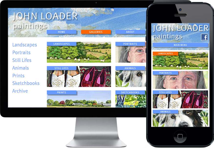 John Loader site design